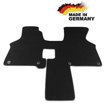 Fußmatte VW T4 2 Sitzer SCHWARZ Premium Velours Hochwertige Umrandung NEU