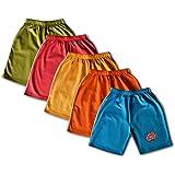 Elk Boy's Multicolour Cotton Shorts Trouser 5 Pieces Combo