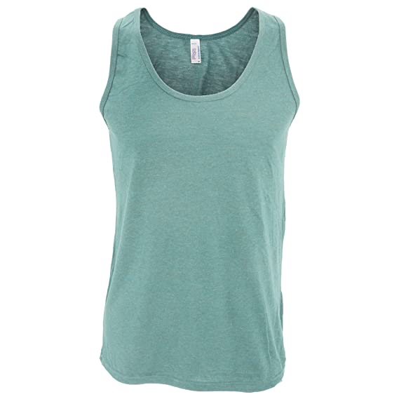 American Apparel Mens Plain Sleeveless Tri-Blend Tank//Vest Top