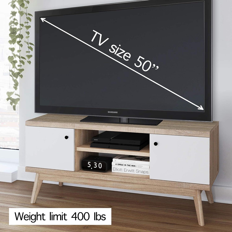 Amazon.com: Mueble de TV de estilo moderno y minimalista ...