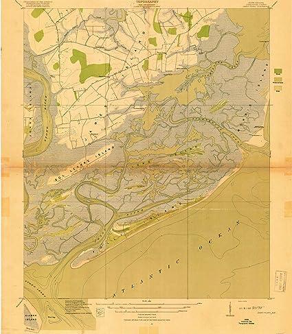 South Carolina Map Islands.Amazon Com South Carolina Maps 1919 James Island Sc Usgs
