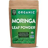 Organic Moringa Oleifera Leaf Powder | Perfect for Smoothies, Drinks, Tea & Recipes | 100% Raw From India | 16oz…