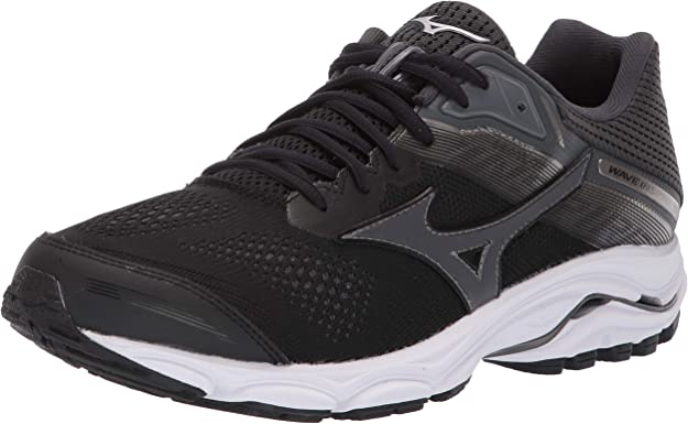 Mizuno Men's Wave Inspire 15 Running Shoe, Black-Dark Shadow 7 D US