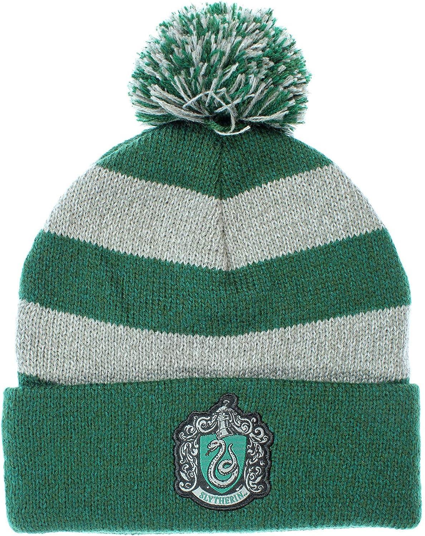Slytherin Harry Potter Hogwarts Houses Knit Slytherin Scarf /& Pom Beanie Set