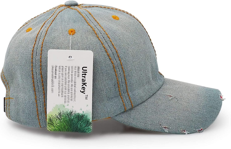 Unisex Sport Hat Casual Women Men Sun Hat Cowboy Cap UltraKey Denim Baseball Cap