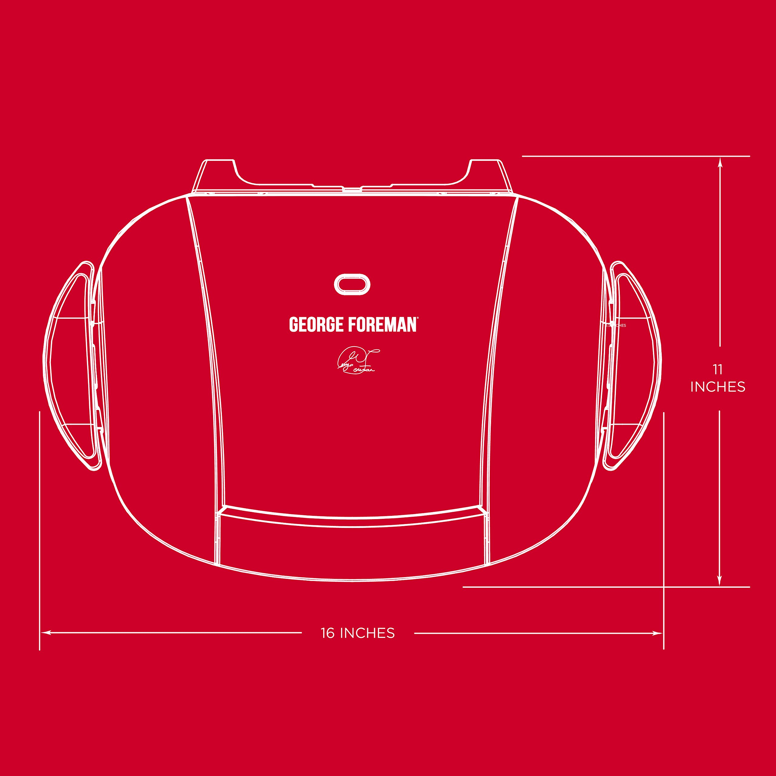 George Foreman 5-Serving Removable Plate Electric Indoor Grill and Panini Press, Red, GRP0004R by George Foreman (Image #7)