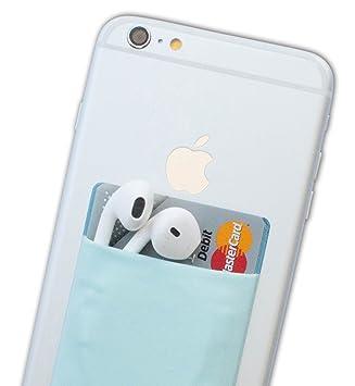 Atkolé Wallet - Funda-Cartera Adhesiva (con pegamento) para Celular con cinta adhesiva (Azul) de 3M. Un accesorio indispensable para celulares, un ...