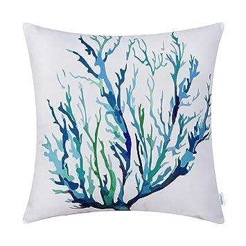 Amazon.com: CaliTime Funda de almohada de lona para sofá o ...