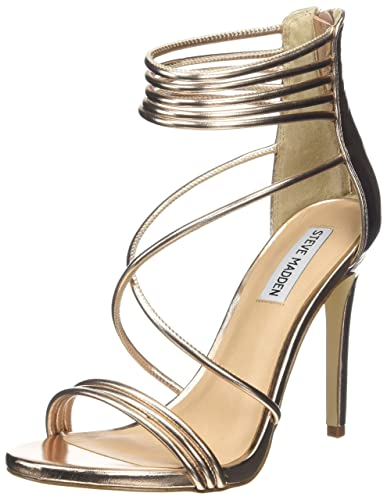 Steve Madden Footwear Women's Answer Ankle Strap Sandals, Pink (Rose Gold),  6
