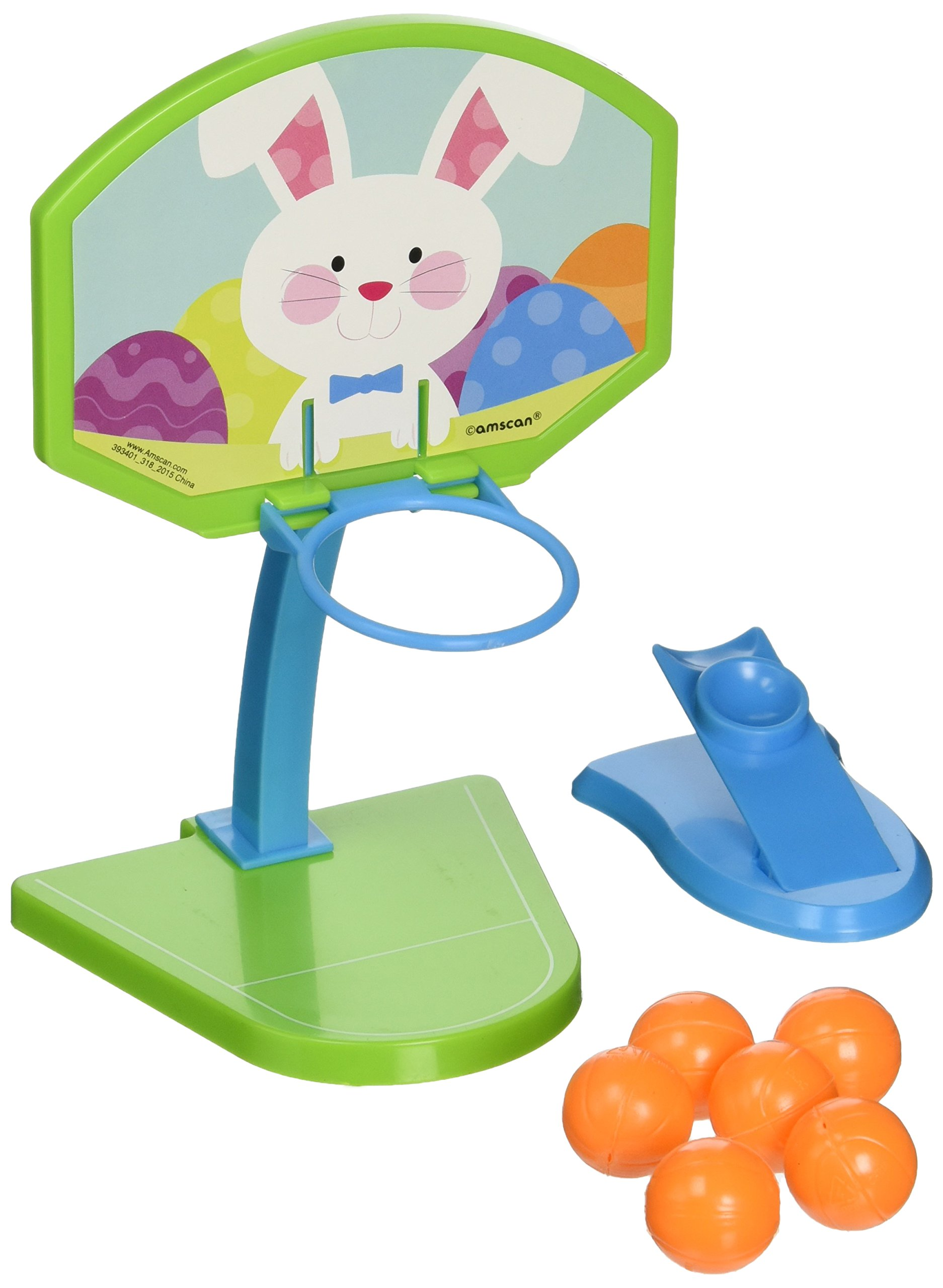 Amscan Egg-stra Special Easter Bunny Basketball Game Party Favor, Multicolor, 7'' x 5''