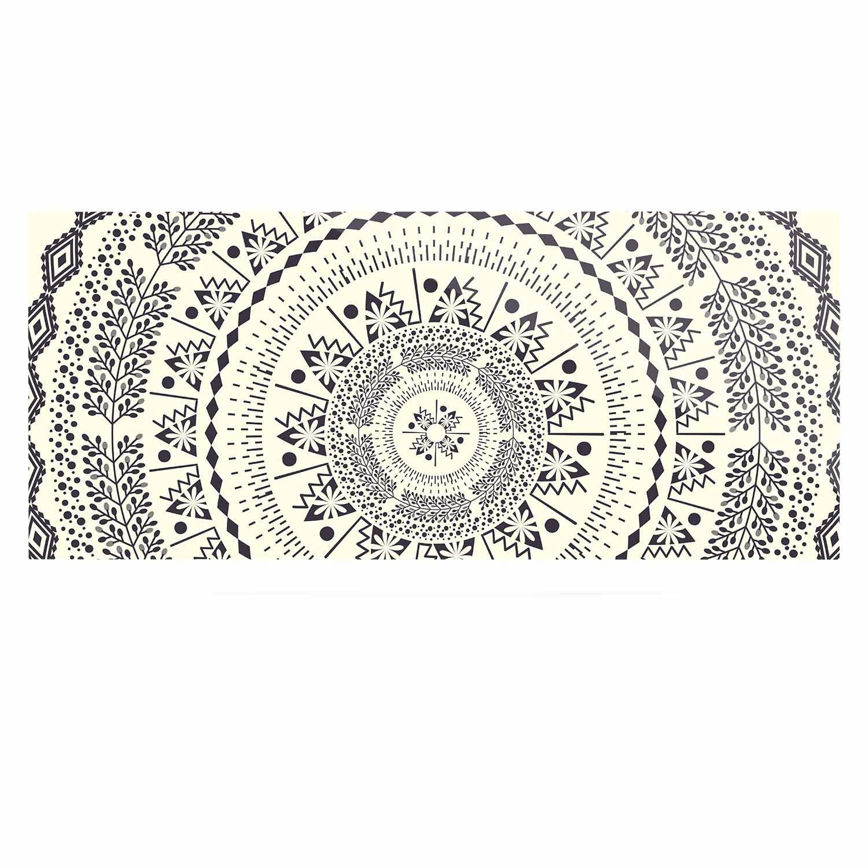 Kess InHouse Famenxt Swadesi Soft Boho Mandala Beige Illustration Luxe Rectangle Panel 24 x 36