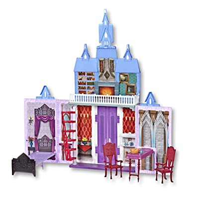 Disney Frozen 2 Fold and Go Portable Arendelle Castle Exclusive Dollhouse Playset: Toys & Games