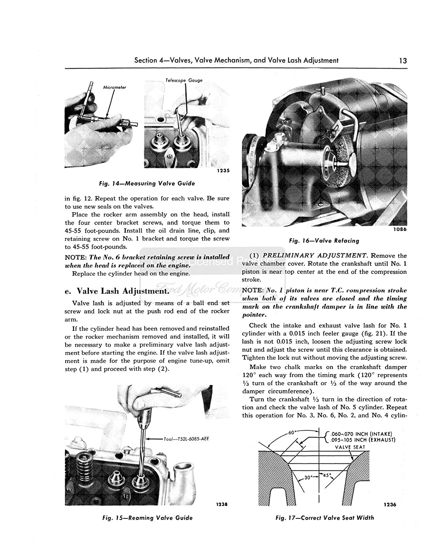 1952 1953 1954 Ford Fairlane T Bird Shop Service Repair Wiring Diagram Customline Tudor Manual Book Engine Automotive