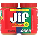 Jif Creamy Peanut Butter, 40 Ounces (Pack of 2), 7g (7% DV) of Protein per Serving, Smooth, Creamy Texture, No Stir…