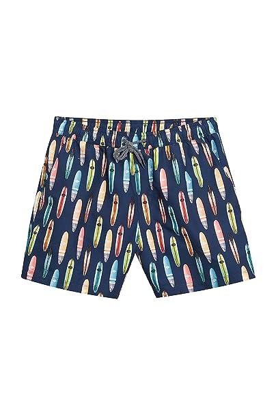 next Hombre Shorts De Baño con Estampado Tablas De Surf Azul Marino S: Amazon.es: Ropa y accesorios