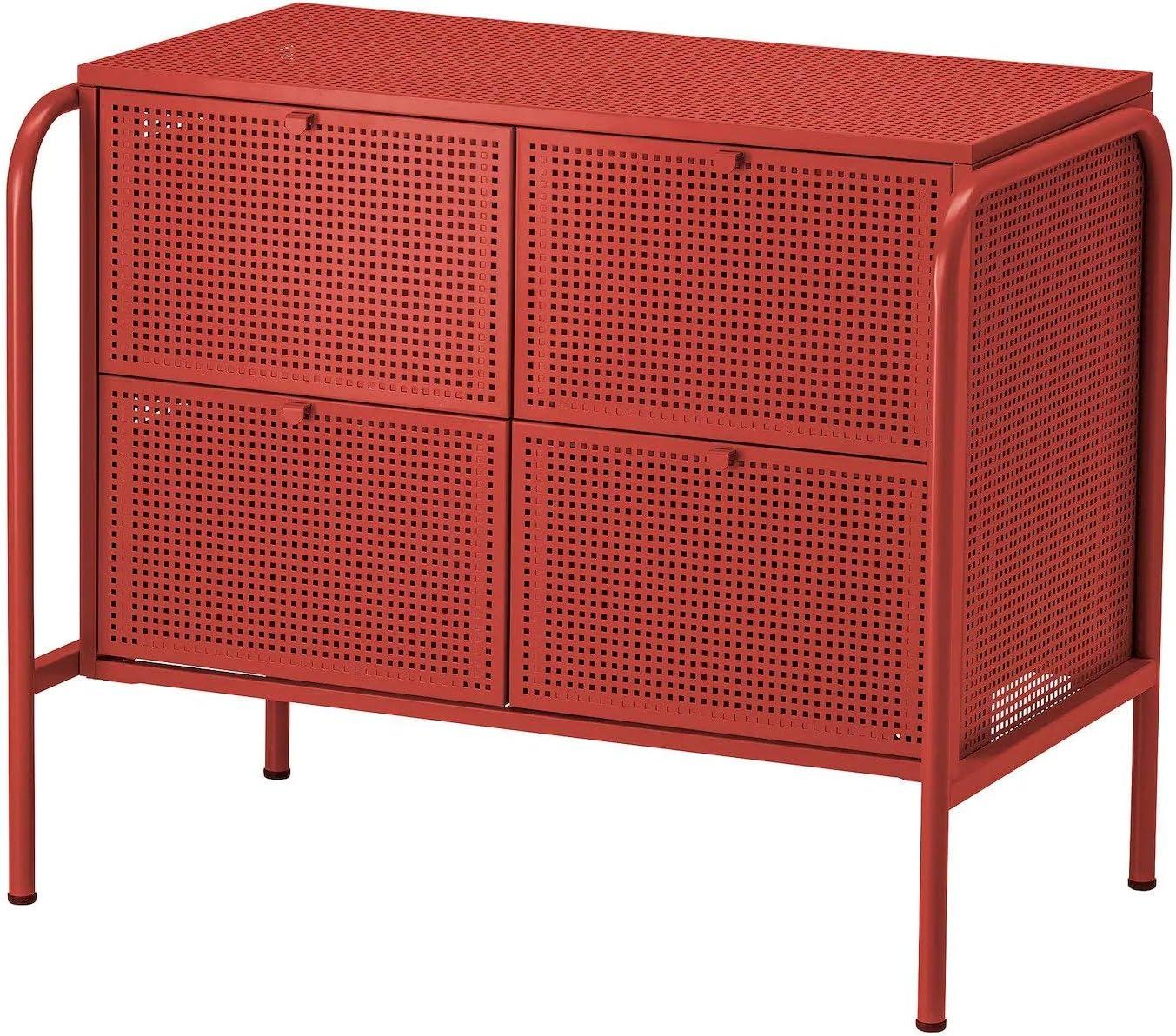 IK IKEA NIKKEBY - Cajonera con 4 cajones, Rojo, 84 x 70 cm: Amazon ...