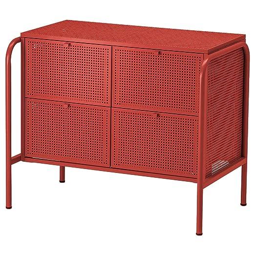 IK IKEA NIKKEBY - Cajonera con 4 cajones, Rojo, 84 x 70 cm ...