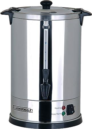 Casselin CPC100 cafetera eléctrica - calentadores de agua (Negro, Acero inoxidable, Acero inoxidable