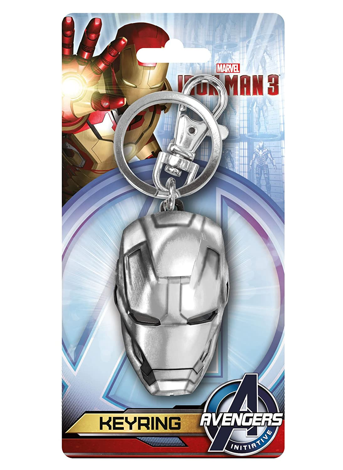 Iron Man de Marvel Avengers casco de estaño metal llavero