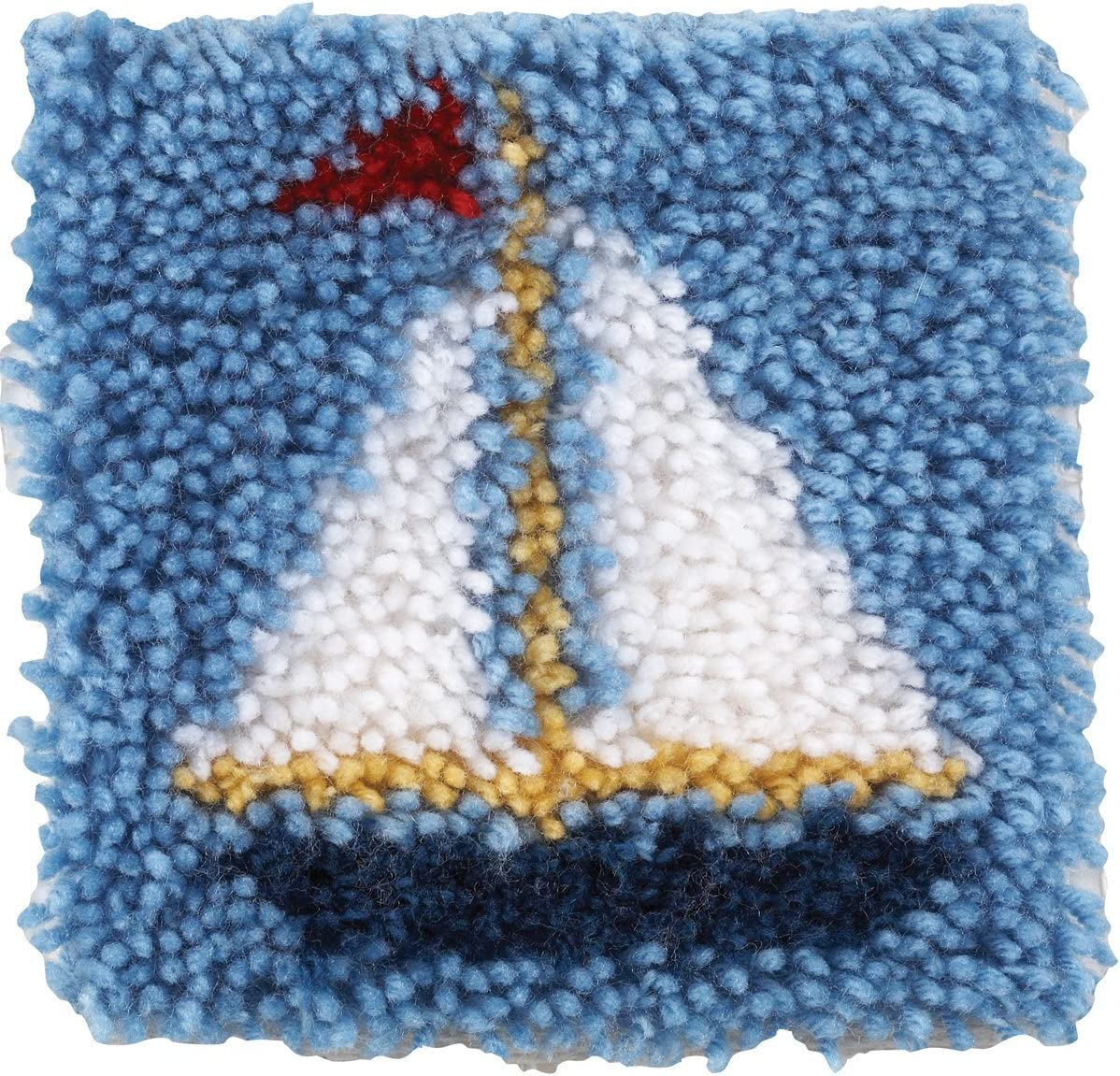 Sailboat Spinrite Wonderart Latch Hook Kit 8 by 8-Inch