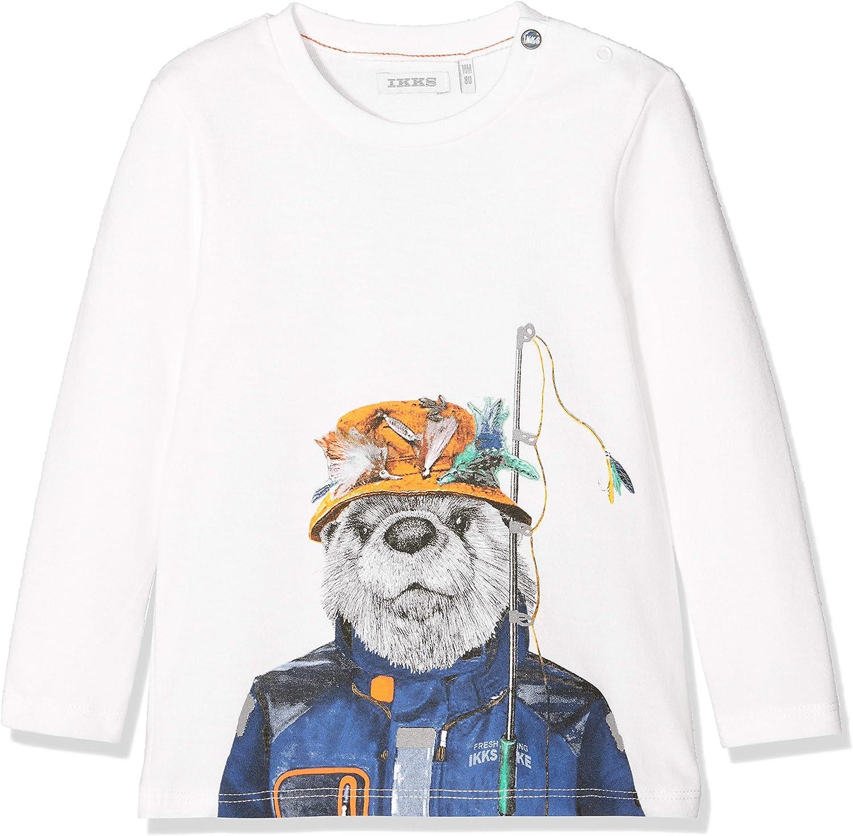 IKKS Junior Baby-Jungen Tee Ml Loutre T-Shirt