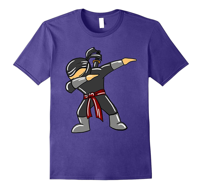 Dabbing Ninja Fighter Ninjutsu T Shirt-Awarplus