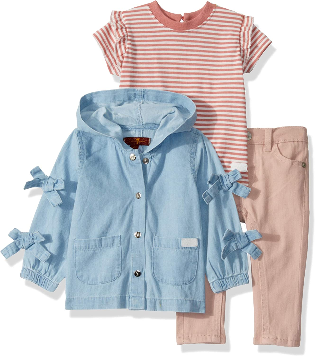 7 For All Mankind Baby Girls 3 Piece Set