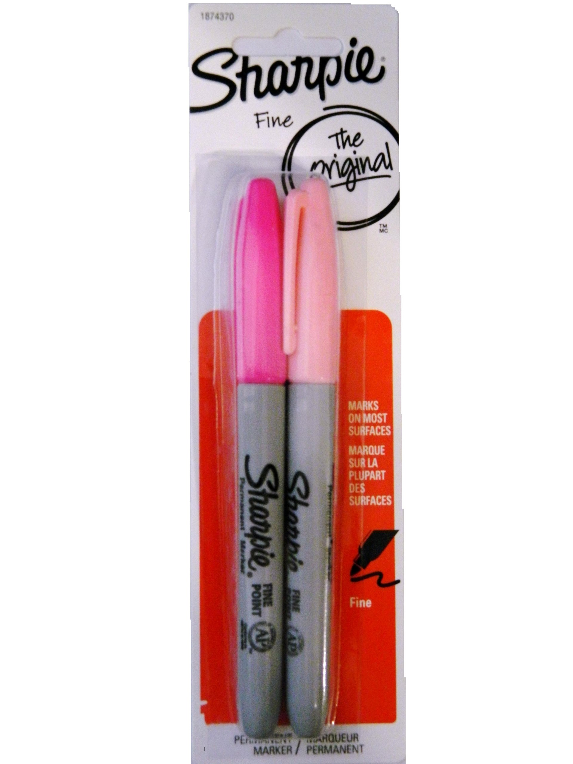 Sharpie Pink Fine Markers (2 Pack)
