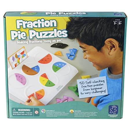 Amazon.com: Educational Insights Fraction Pie Puzzles: Toys & Games