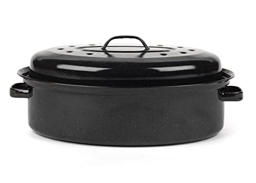 Kitchencraft Large Stainless Steel Roasting Tin With Rack