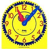 Carson Dellosa Judy Clock—Teaching Kids to Tell Time, Color-Coded Hour and Minute Hands, Toy Clock with Metal Stand, Classroo