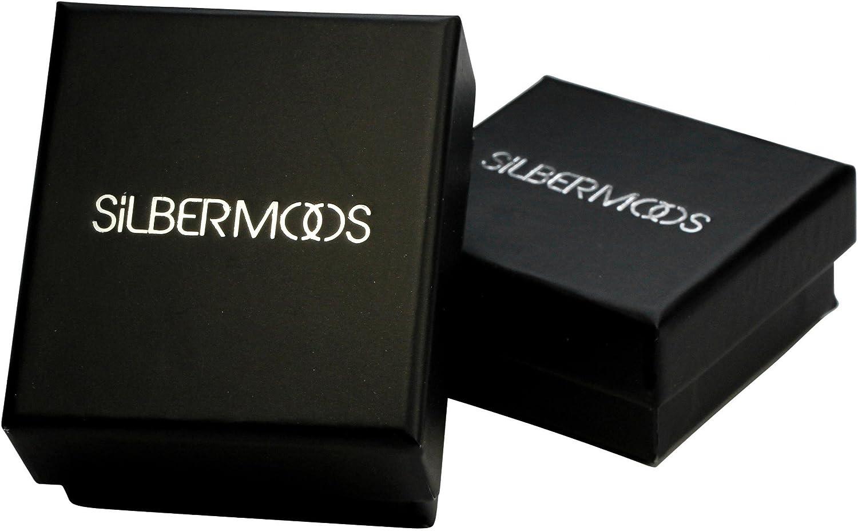 70 SILBERMOOS XL-Collection Dames Hommes Bague-Anneau brillante bross/ée large taille 64 72 Argent Sterling 925 68 66