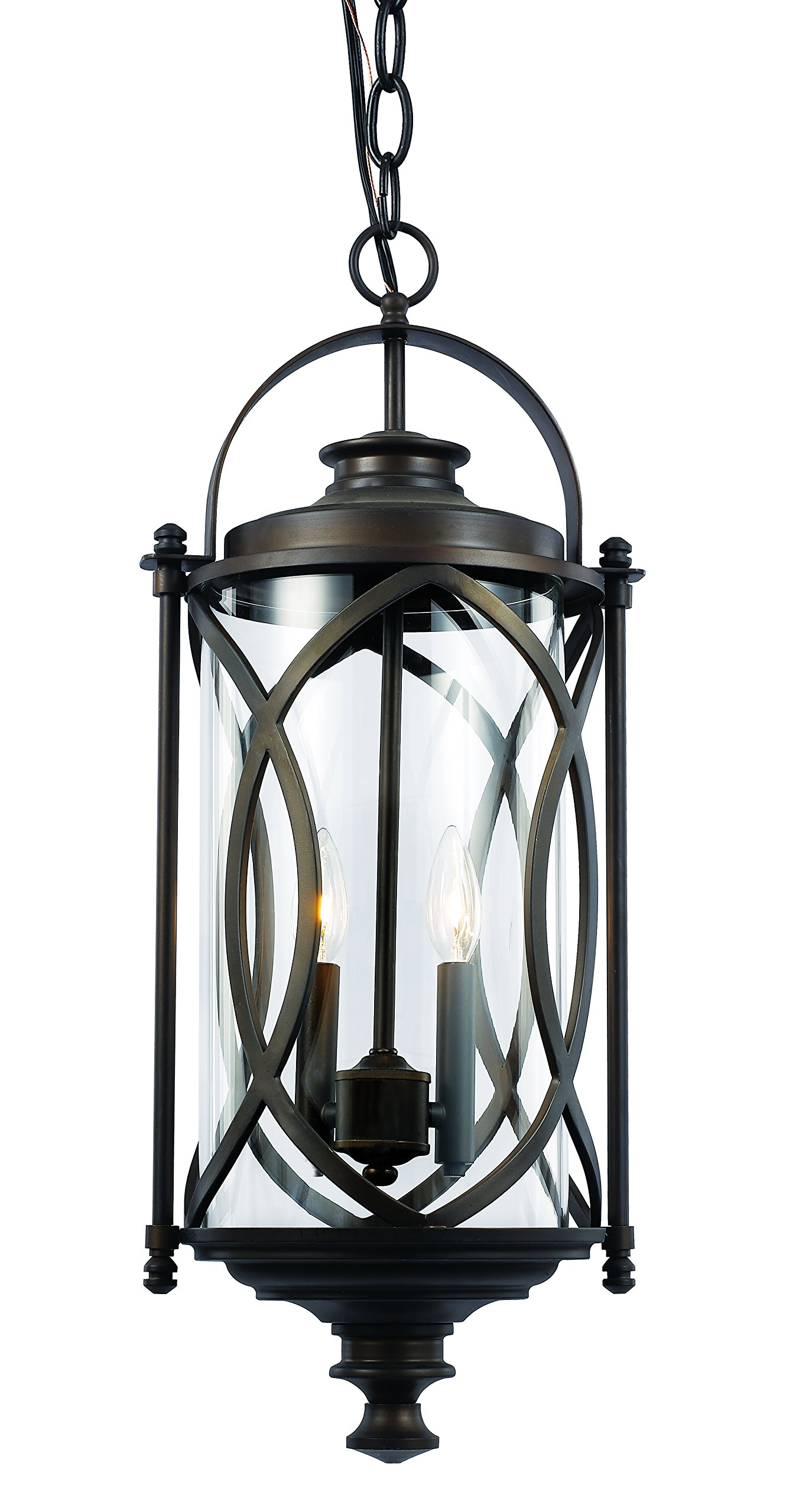 Trans Globe Lighting 40413 ROB Outdoor Fiesta 24'' Hanging Lantern, Rubbed Oil Bronze
