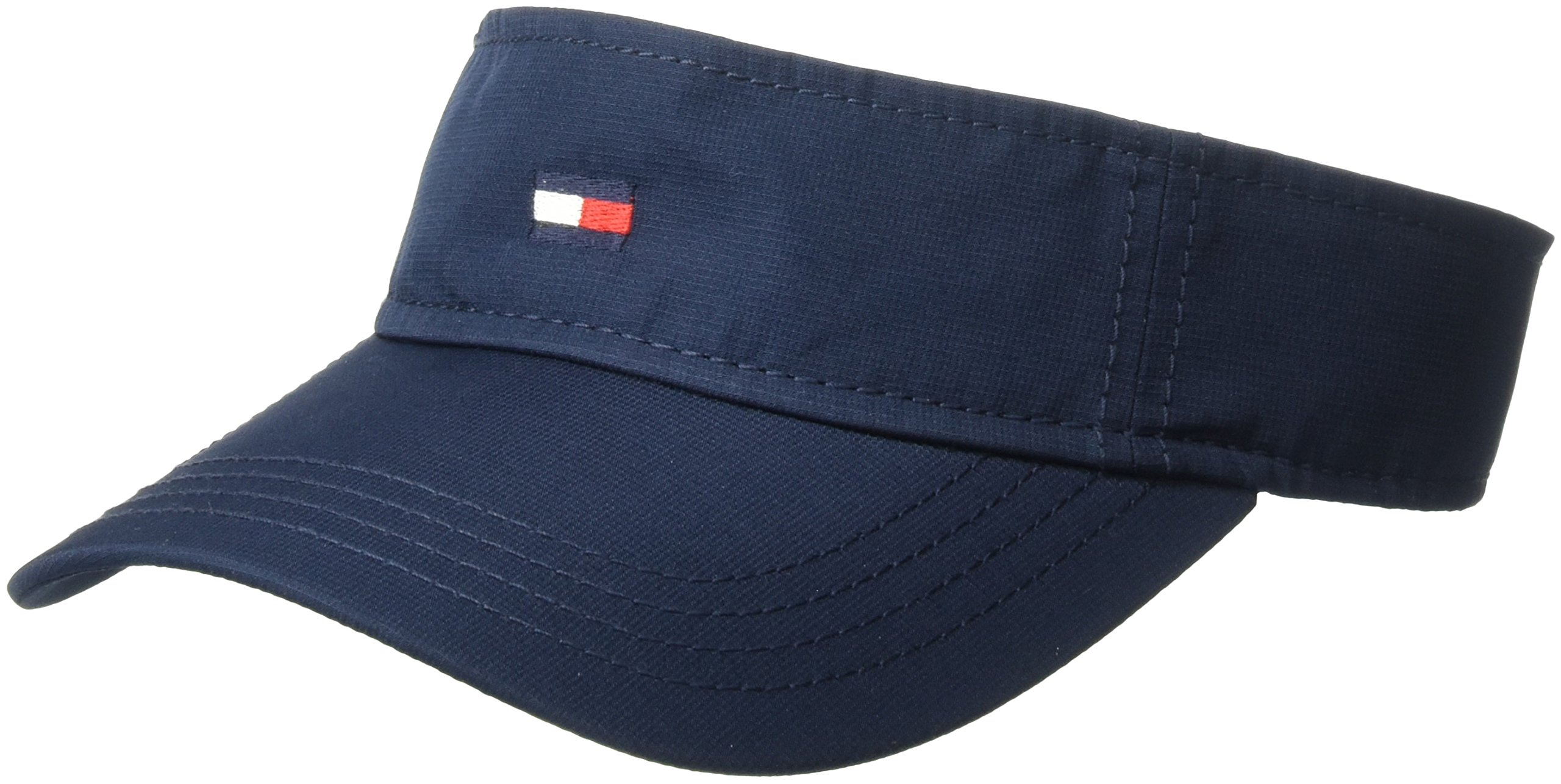 Tommy Hilfiger Men's Flag Nylon Visor, Navy Blazer, O/S