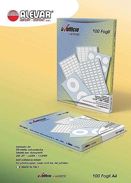 6 etiquetas adhesivas Sin margen sobre Folio A4, tamaño etiqueta ...
