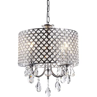 Create for life 4 lights crystal chandelier pendant light ceiling create for life 4 lights crystal chandelier pendant lightceiling light fixture chromed finish mozeypictures Image collections