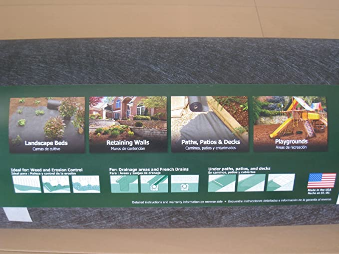 Amazon.com : 4 Wide, 200 Long Dalen Pro Shield Comercial Grade Landscape Fabric, Made in USA : Garden & Outdoor