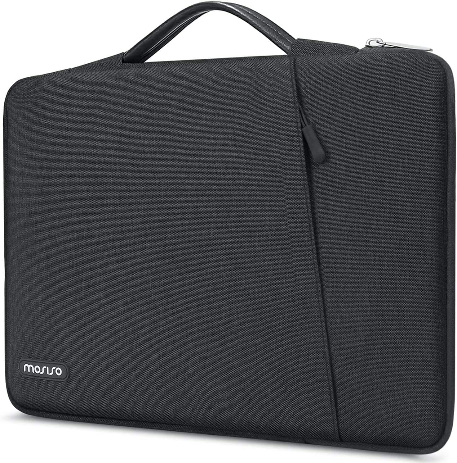 MOSISO 360 Protective Laptop Sleeve Compatible with 13-13.3 inch MacBook Pro, MacBook Air, Notebook Computer, Shockproof Carrying Case Cover Handbag,Polyester Vertical Bag with Bevel Pocket,Space Gray