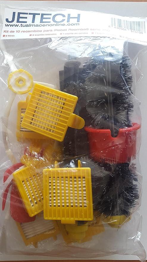 DigitalTech® Pack / Kit reposición de 13 cepillos, filtros y accesorios para aspiradoras iRobot Roomba 700 (700 760 770 780 790): Amazon.es: Hogar