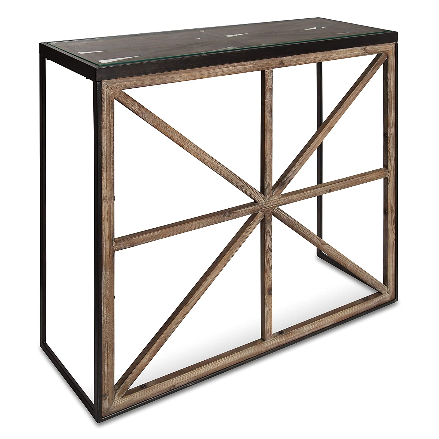 Amazoncom Kate And Laurel Mace Modern Farmhouse Console Table With