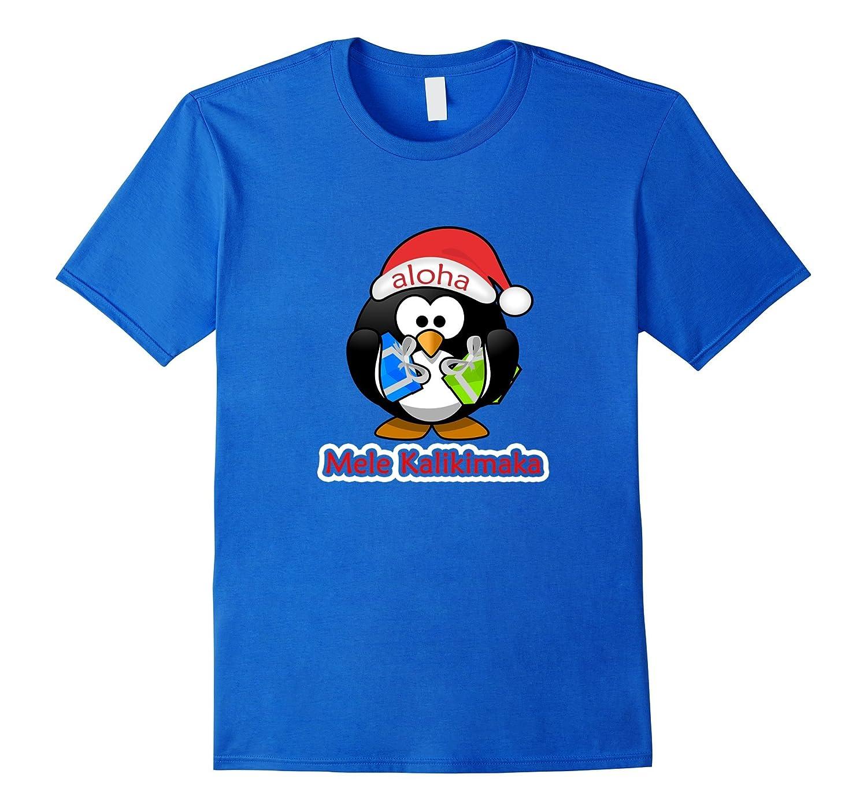 mele kalikimaka merry christmas funny penguin hawaiian shirt