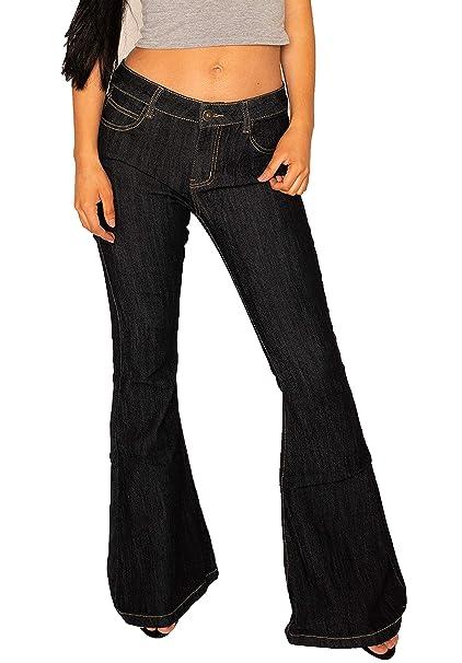Glamour Outfitters Vaqueros Oscuros Acampanados para Mujer ...