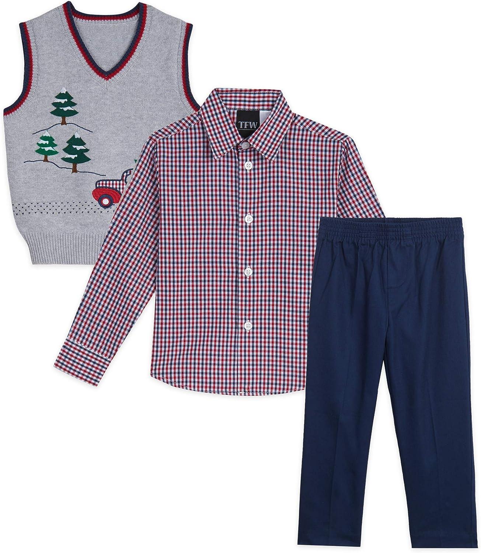 TFW Dresswear Boys' Little Sweater Vest Set
