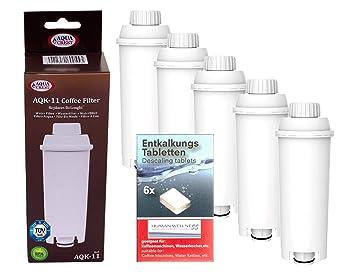 Human-Wellness 5 x aqk de 11 - Filtro de Agua para cafetera de ...