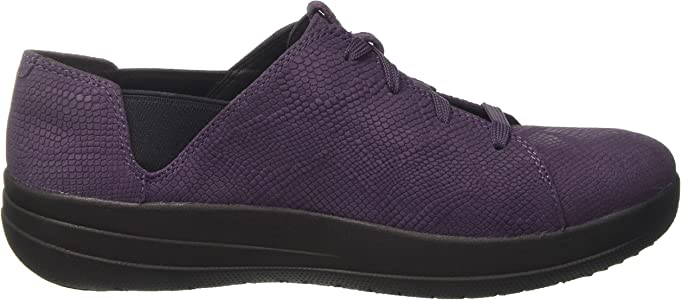 Fitflop F-Sporty Laceup Sneaker, Zapatillas Mujer, Morado (Deep ...
