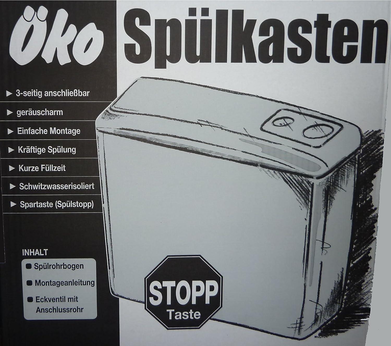 Wisa WC Spülkasten weiss mit Start-Stop-Taste