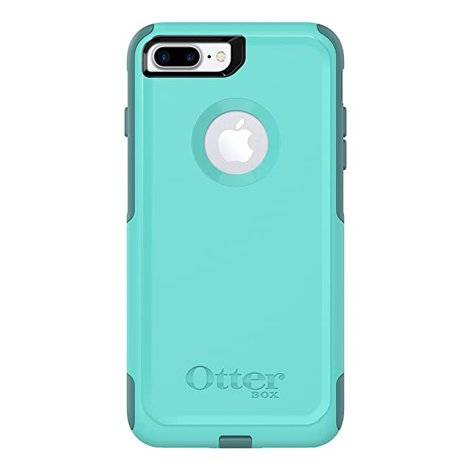 quality design ea7a1 b1a9a OtterBox COMMUTER SERIES Case for iPhone 8 Plus & iPhone 7 Plus (ONLY) -  Retail Packaging - AQUA MINT WAY (AQUA MINT/MOUNTAIN RANGE GREEN)