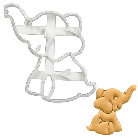 Amazon.com: Cortador de galletas de elefante bebé, 1 pieza ...