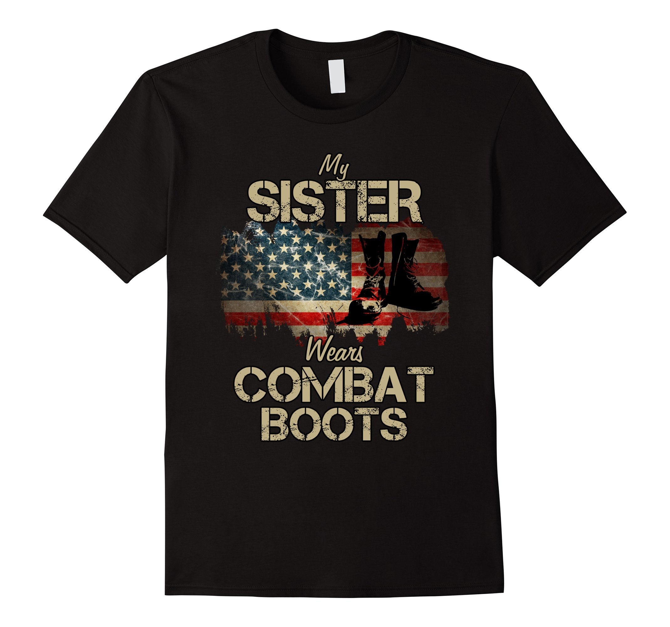 Mens My Sister Wears Combat Boots Small Black