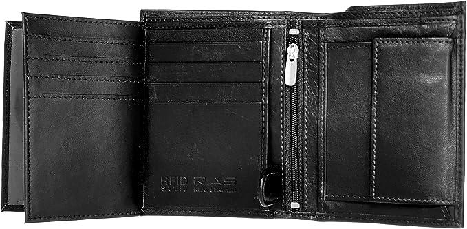 Vente de luxe des hommes en cuir noir porte-cartes de crédit portefeui BB